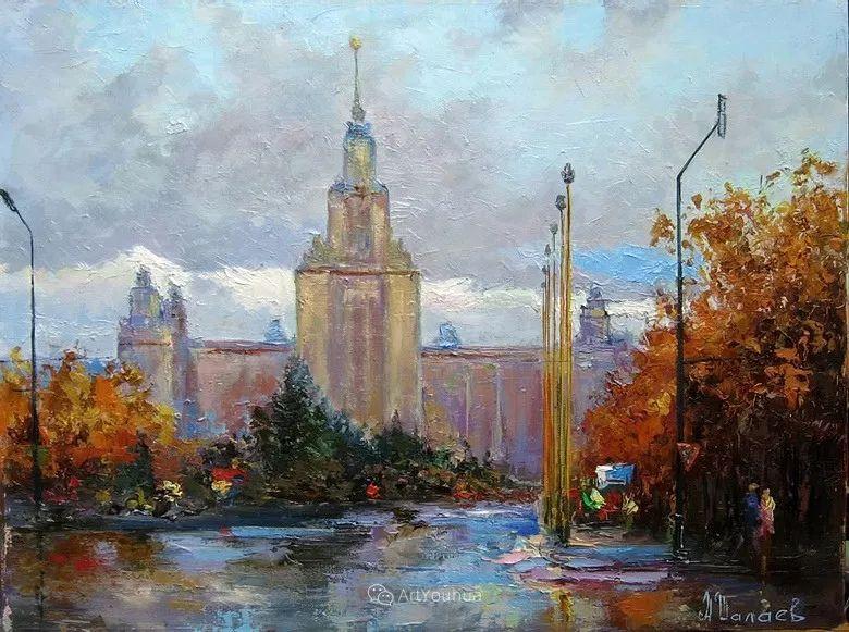 城市景观,俄罗斯艺术家阿列克谢·谢拉耶夫插图7