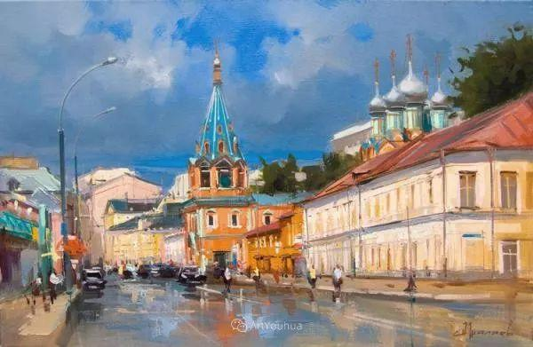 城市景观,俄罗斯艺术家阿列克谢·谢拉耶夫插图10