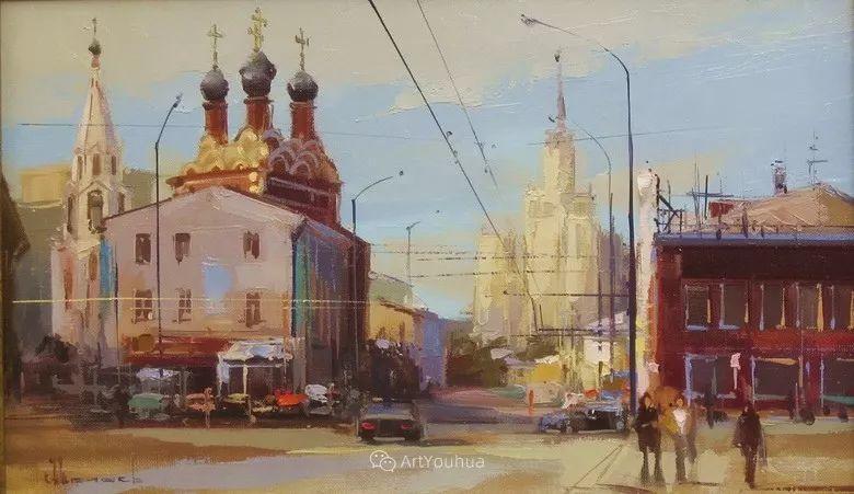城市景观,俄罗斯艺术家阿列克谢·谢拉耶夫插图16