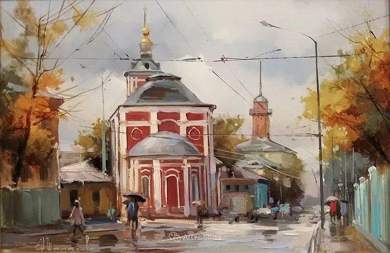 城市景观,俄罗斯艺术家阿列克谢·谢拉耶夫插图19