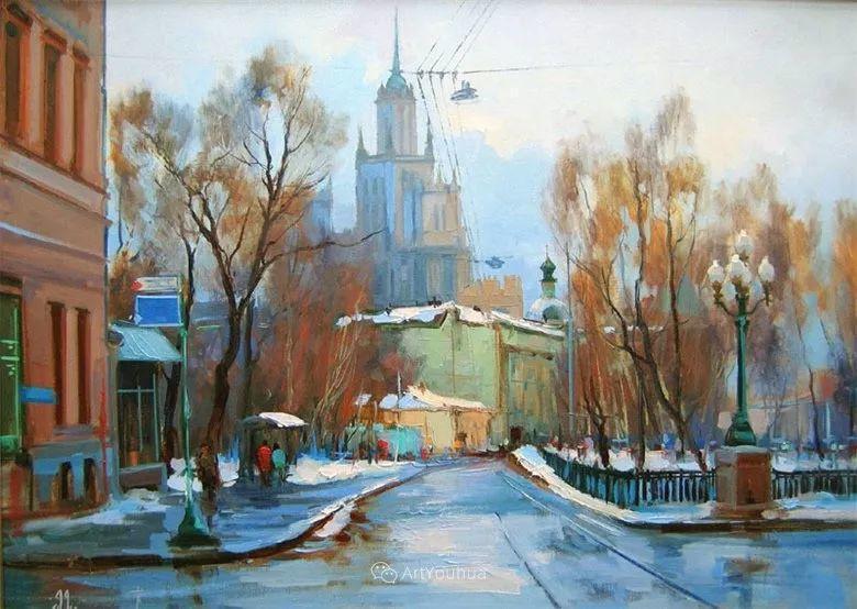 城市景观,俄罗斯艺术家阿列克谢·谢拉耶夫插图21