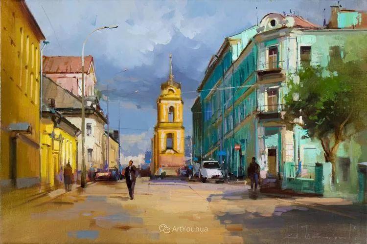 城市景观,俄罗斯艺术家阿列克谢·谢拉耶夫插图24