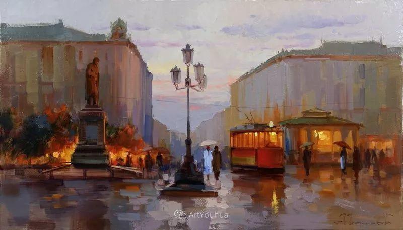 城市景观,俄罗斯艺术家阿列克谢·谢拉耶夫插图33