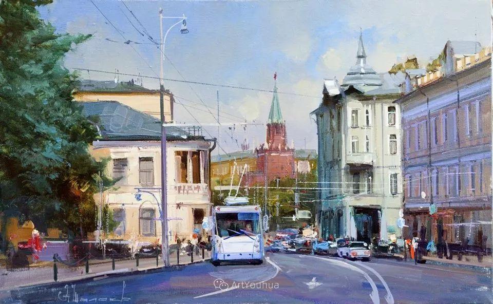 城市景观,俄罗斯艺术家阿列克谢·谢拉耶夫插图44