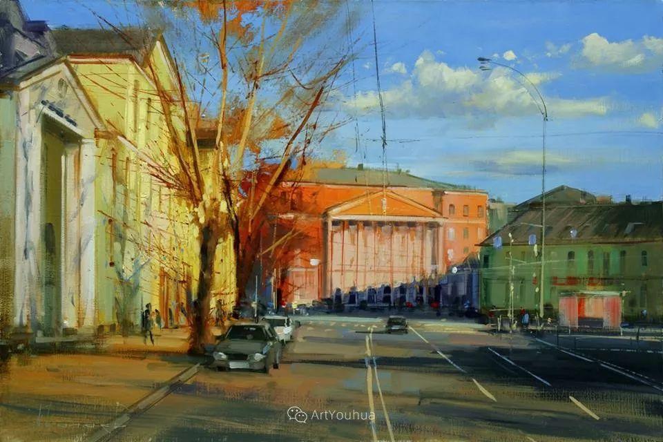 城市景观,俄罗斯艺术家阿列克谢·谢拉耶夫插图47
