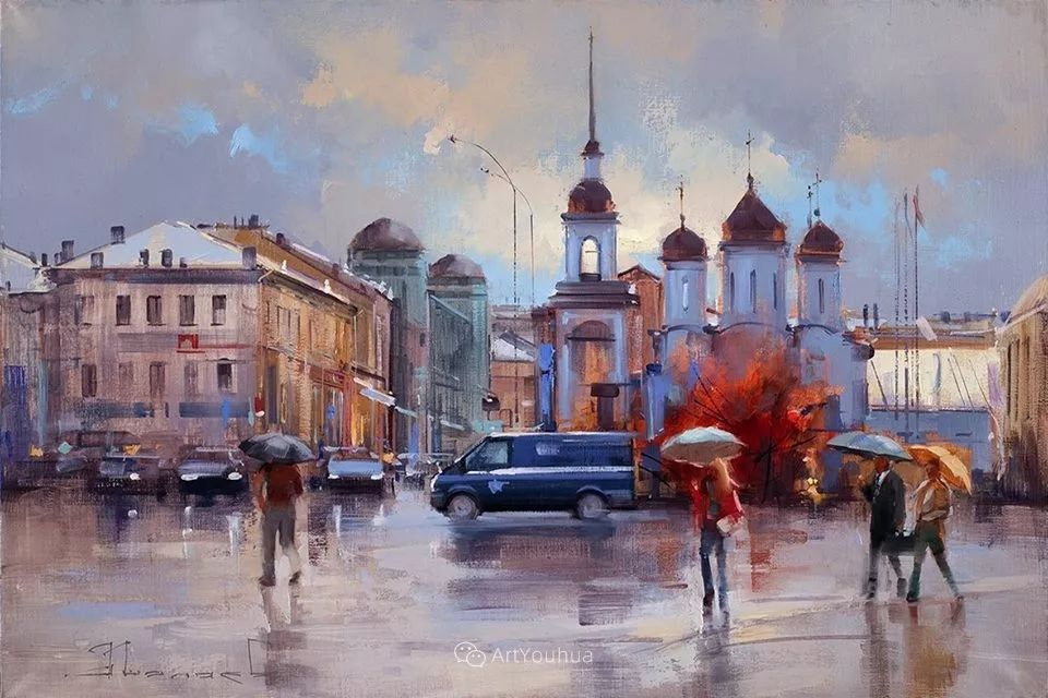 城市景观,俄罗斯艺术家阿列克谢·谢拉耶夫插图48