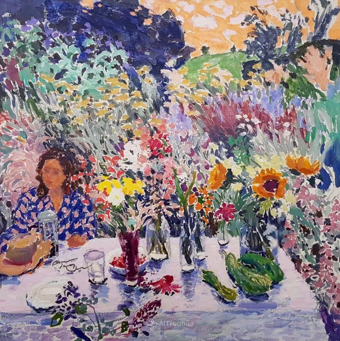 色彩和阳光的交响曲,英国著名浪漫主义画家:雨果·格伦维尔 150幅插图3