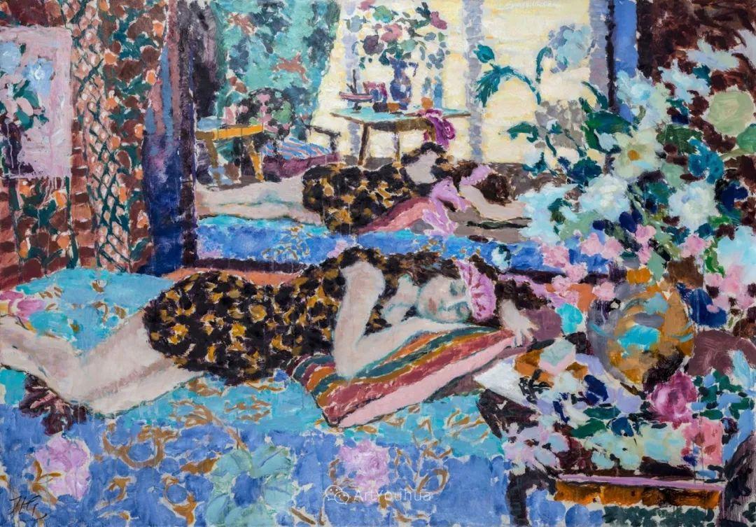 色彩和阳光的交响曲,英国著名浪漫主义画家:雨果·格伦维尔 150幅插图4