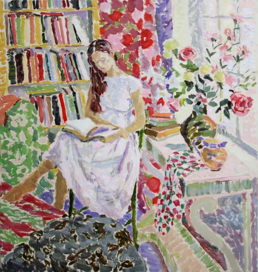 色彩和阳光的交响曲,英国著名浪漫主义画家:雨果·格伦维尔 150幅插图6