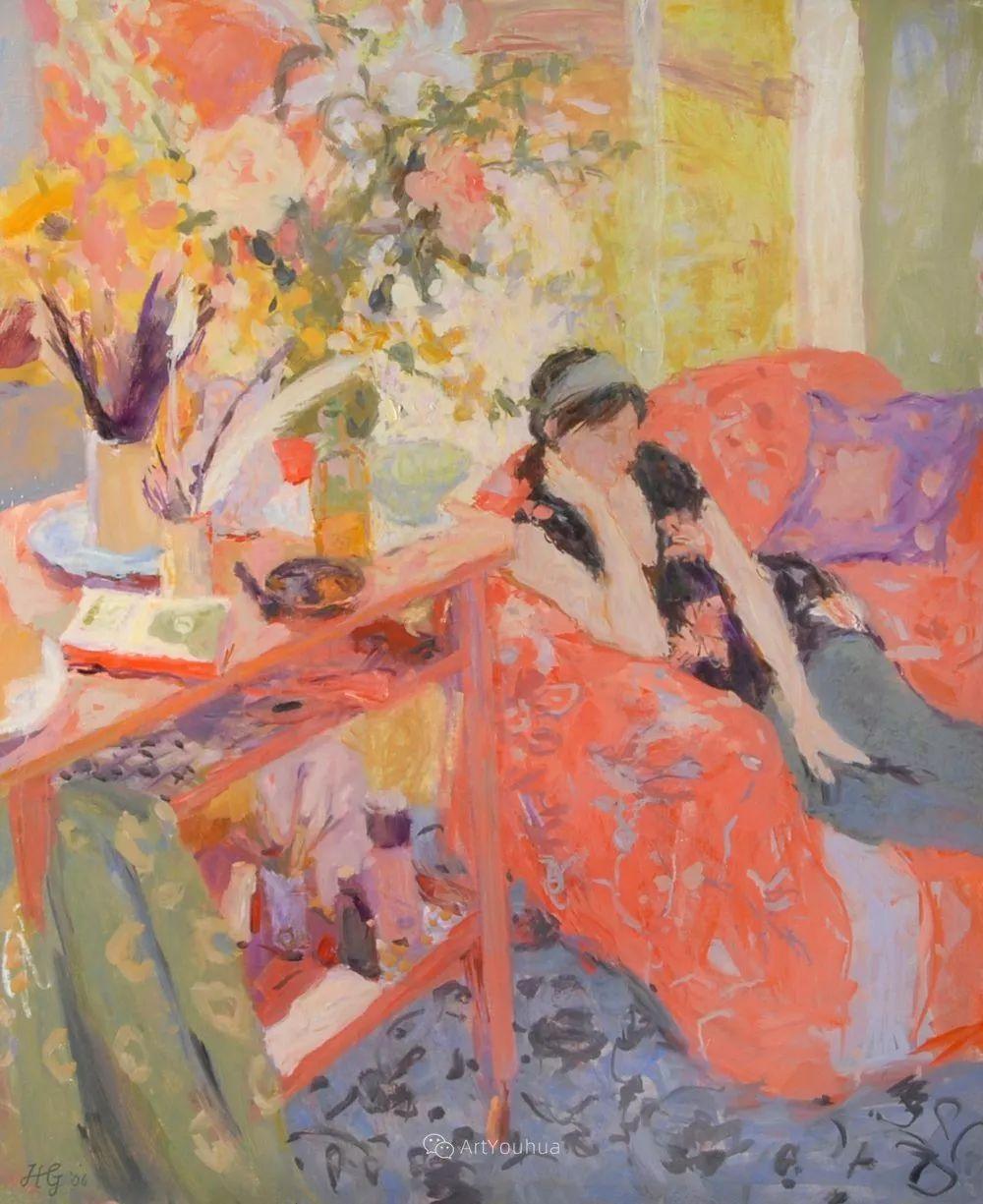 色彩和阳光的交响曲,英国著名浪漫主义画家:雨果·格伦维尔 150幅插图7