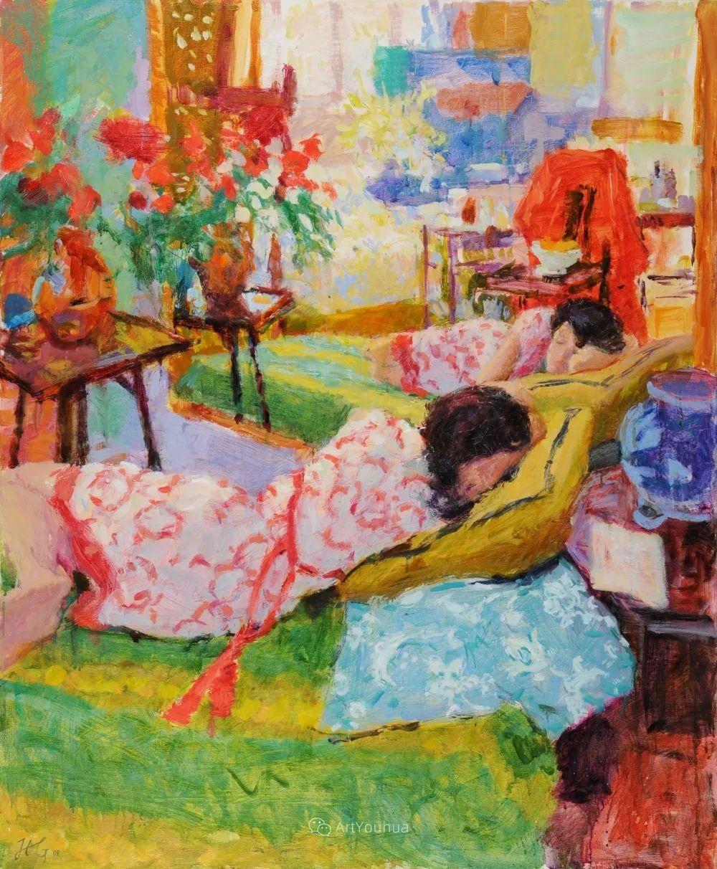 色彩和阳光的交响曲,英国著名浪漫主义画家:雨果·格伦维尔 150幅插图8