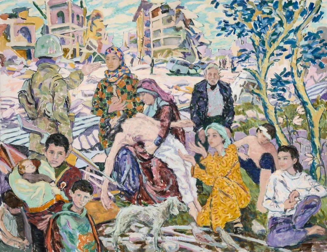 色彩和阳光的交响曲,英国著名浪漫主义画家:雨果·格伦维尔 150幅插图12