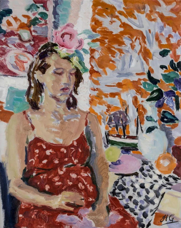 色彩和阳光的交响曲,英国著名浪漫主义画家:雨果·格伦维尔 150幅插图15
