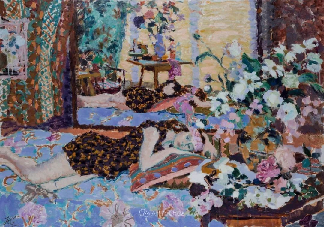 色彩和阳光的交响曲,英国著名浪漫主义画家:雨果·格伦维尔 150幅插图16