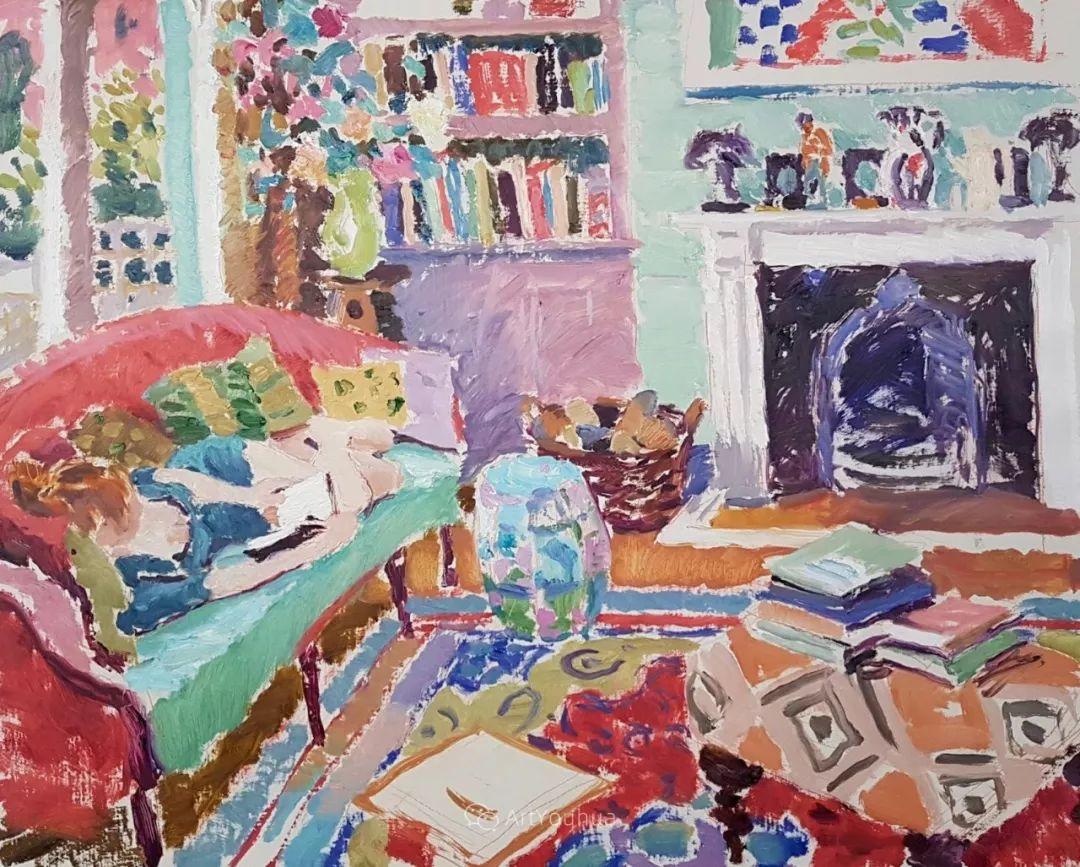色彩和阳光的交响曲,英国著名浪漫主义画家:雨果·格伦维尔 150幅插图17