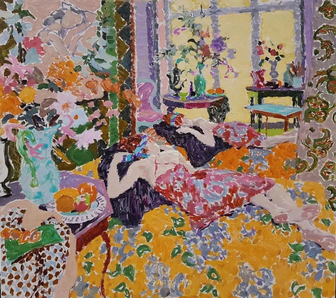 色彩和阳光的交响曲,英国著名浪漫主义画家:雨果·格伦维尔 150幅插图18