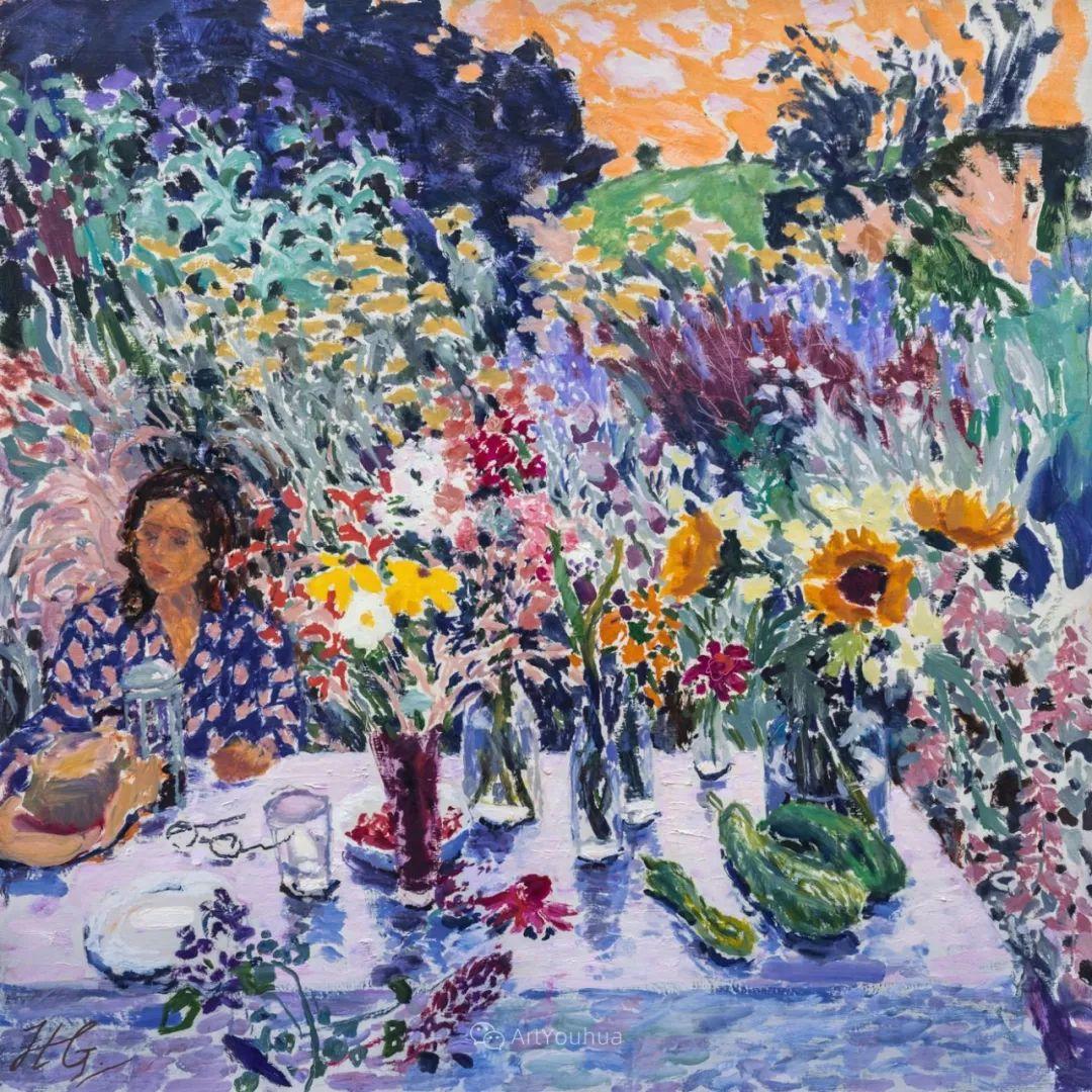 色彩和阳光的交响曲,英国著名浪漫主义画家:雨果·格伦维尔 150幅插图19