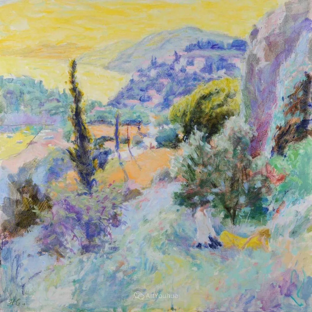 色彩和阳光的交响曲,英国著名浪漫主义画家:雨果·格伦维尔 150幅插图22