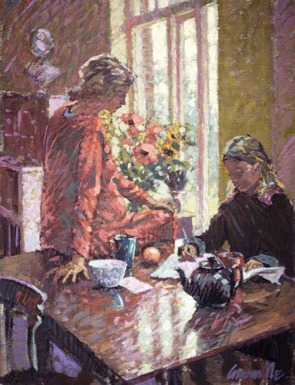 色彩和阳光的交响曲,英国著名浪漫主义画家:雨果·格伦维尔 150幅插图23