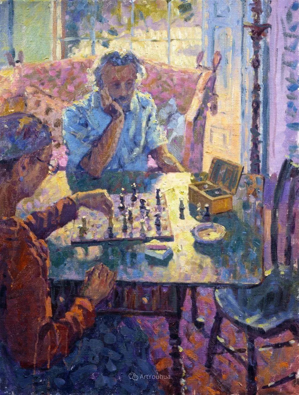 色彩和阳光的交响曲,英国著名浪漫主义画家:雨果·格伦维尔 150幅插图24
