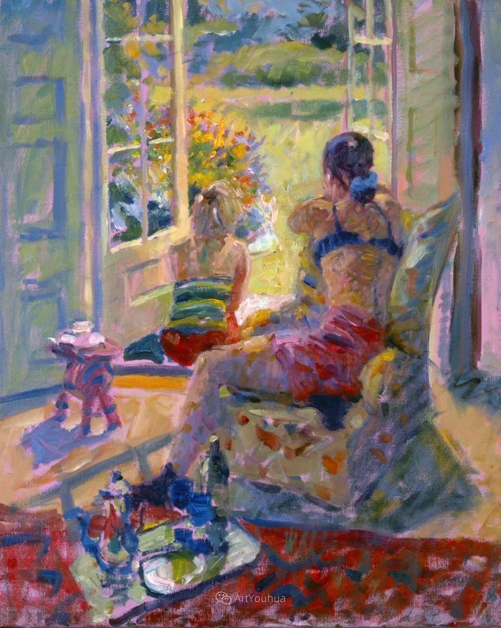 色彩和阳光的交响曲,英国著名浪漫主义画家:雨果·格伦维尔 150幅插图25