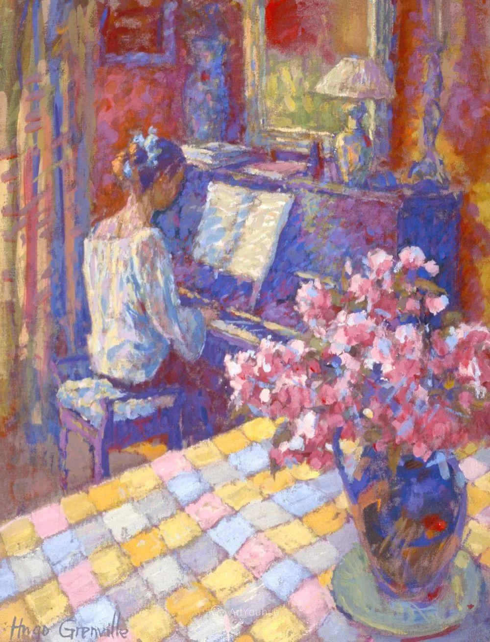 色彩和阳光的交响曲,英国著名浪漫主义画家:雨果·格伦维尔 150幅插图26