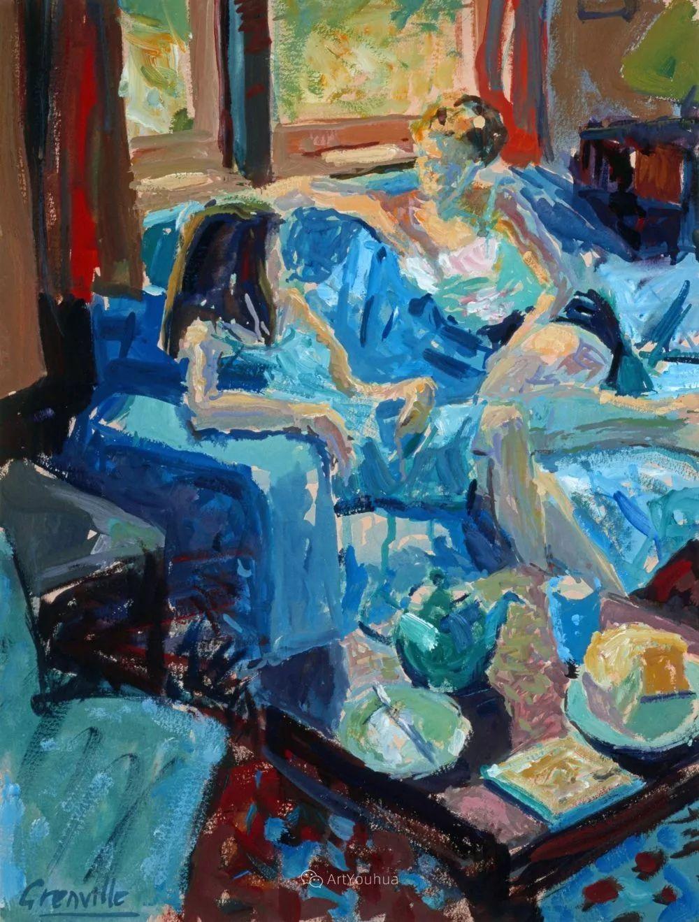 色彩和阳光的交响曲,英国著名浪漫主义画家:雨果·格伦维尔 150幅插图27