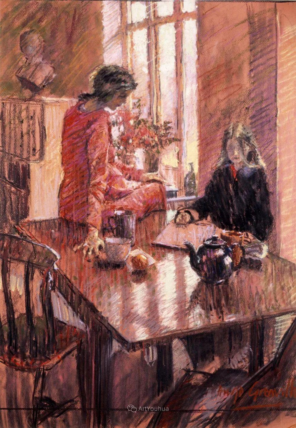 色彩和阳光的交响曲,英国著名浪漫主义画家:雨果·格伦维尔 150幅插图30