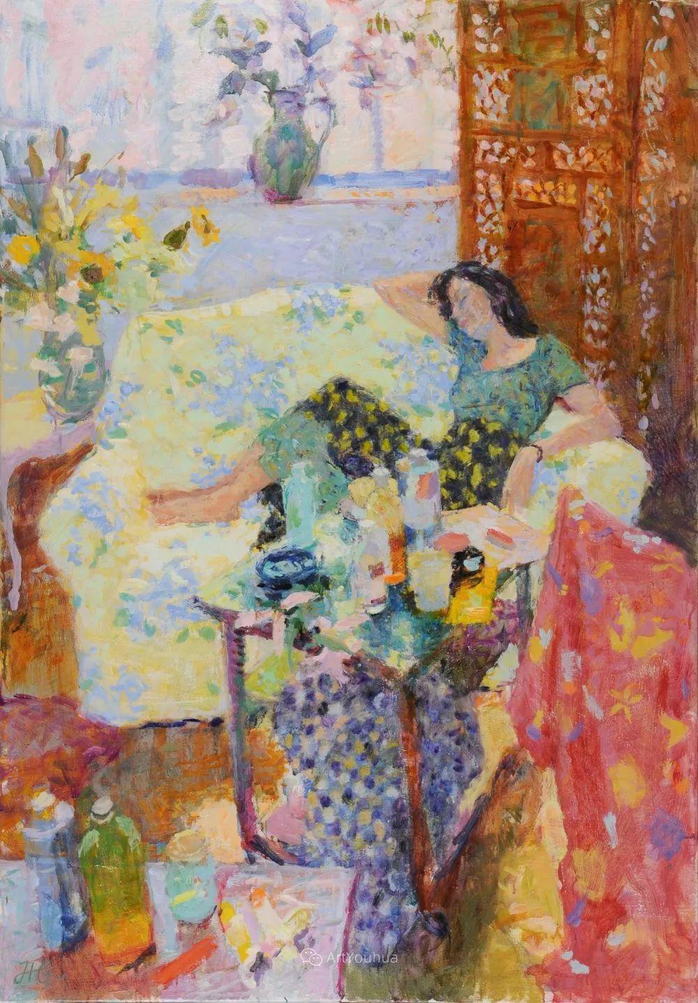 色彩和阳光的交响曲,英国著名浪漫主义画家:雨果·格伦维尔 150幅插图34