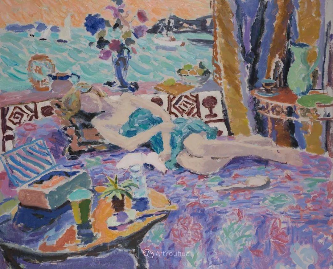 色彩和阳光的交响曲,英国著名浪漫主义画家:雨果·格伦维尔 150幅插图35