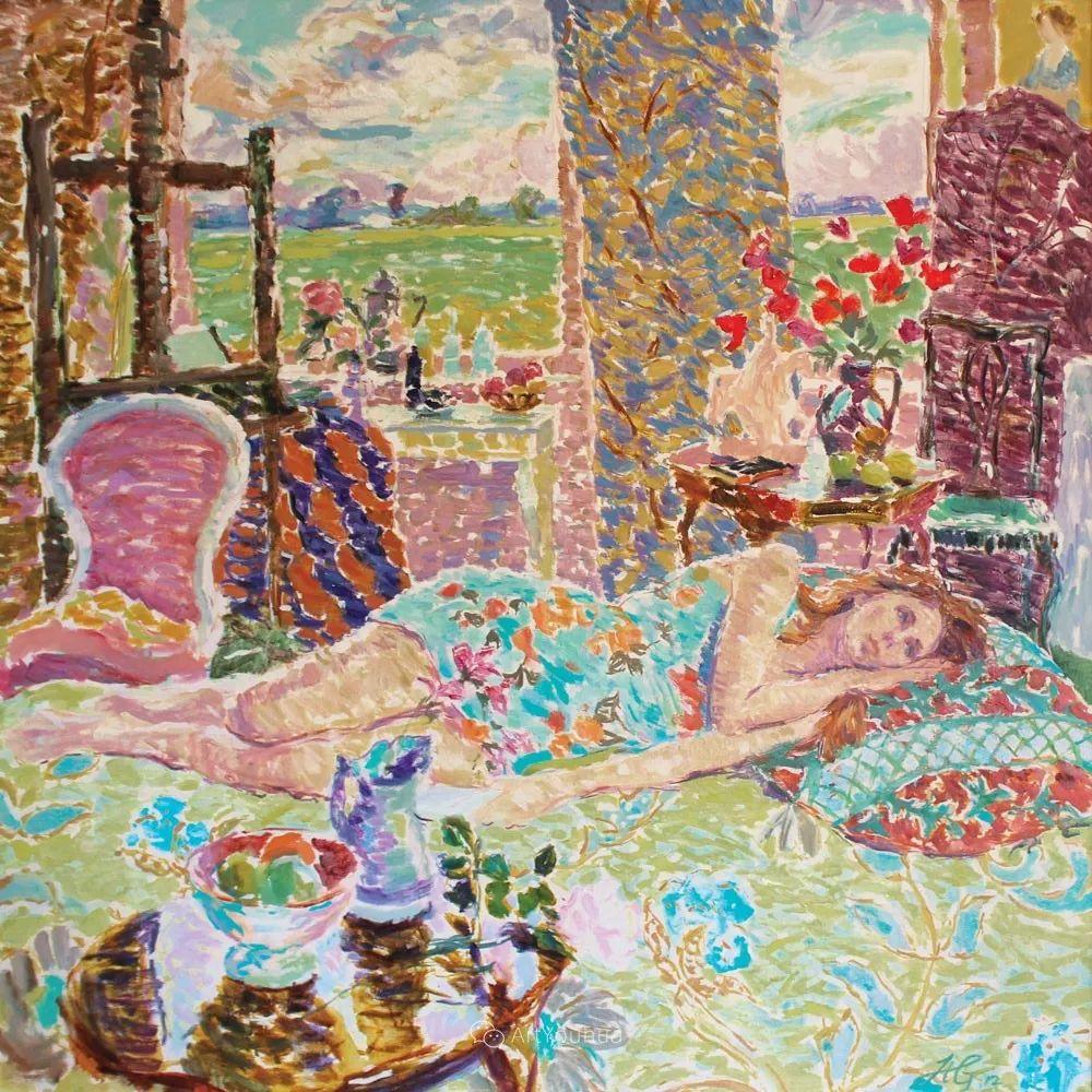 色彩和阳光的交响曲,英国著名浪漫主义画家:雨果·格伦维尔 150幅插图36