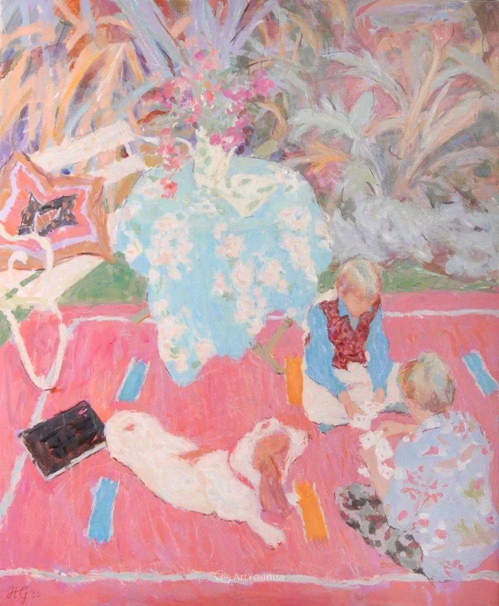 色彩和阳光的交响曲,英国著名浪漫主义画家:雨果·格伦维尔 150幅插图40