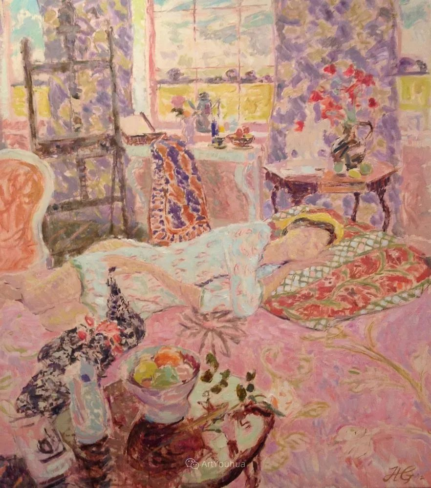 色彩和阳光的交响曲,英国著名浪漫主义画家:雨果·格伦维尔 150幅插图41