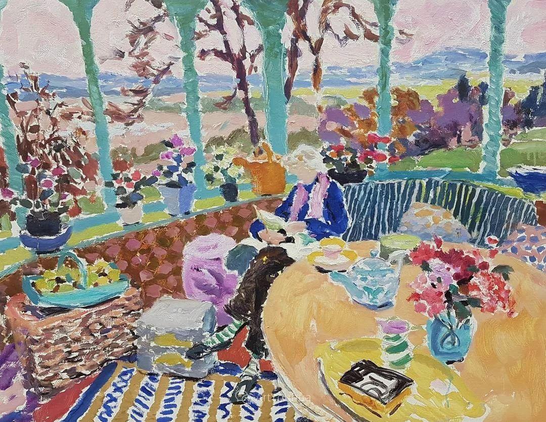 色彩和阳光的交响曲,英国著名浪漫主义画家:雨果·格伦维尔 150幅插图42