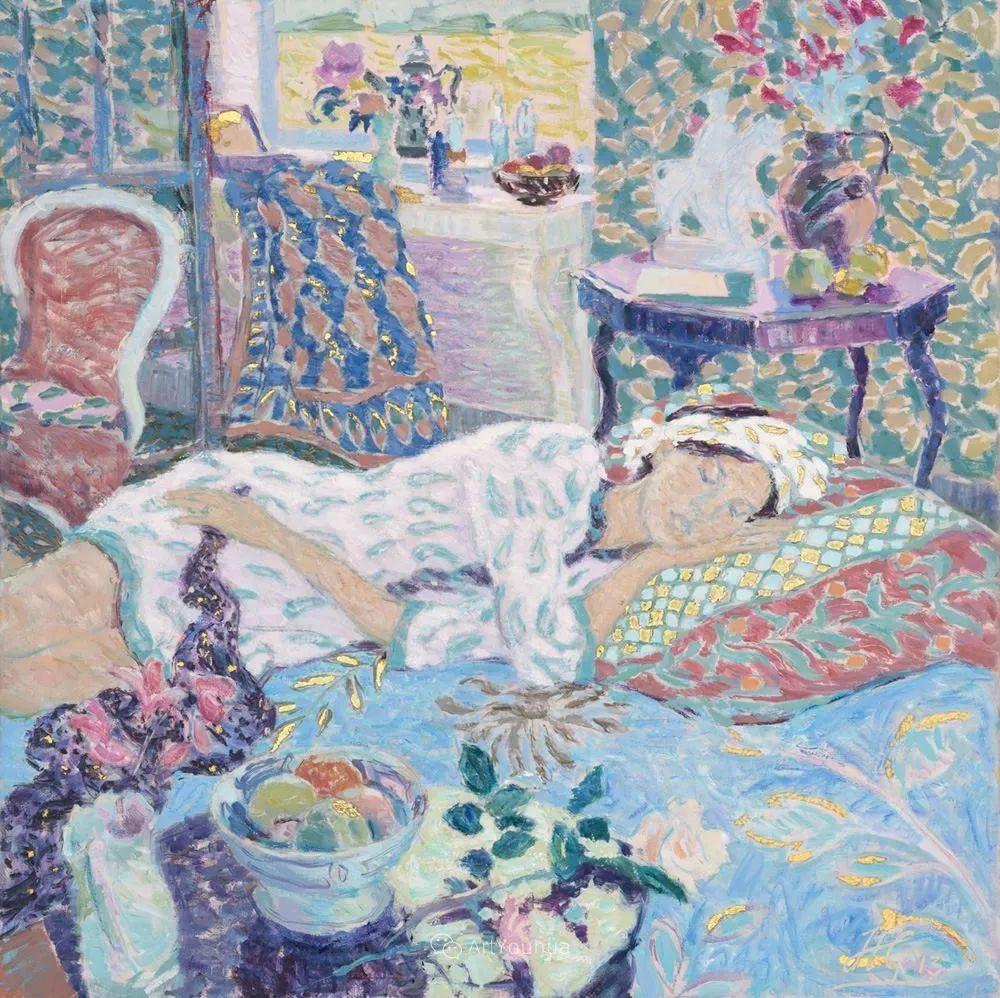 色彩和阳光的交响曲,英国著名浪漫主义画家:雨果·格伦维尔 150幅插图44