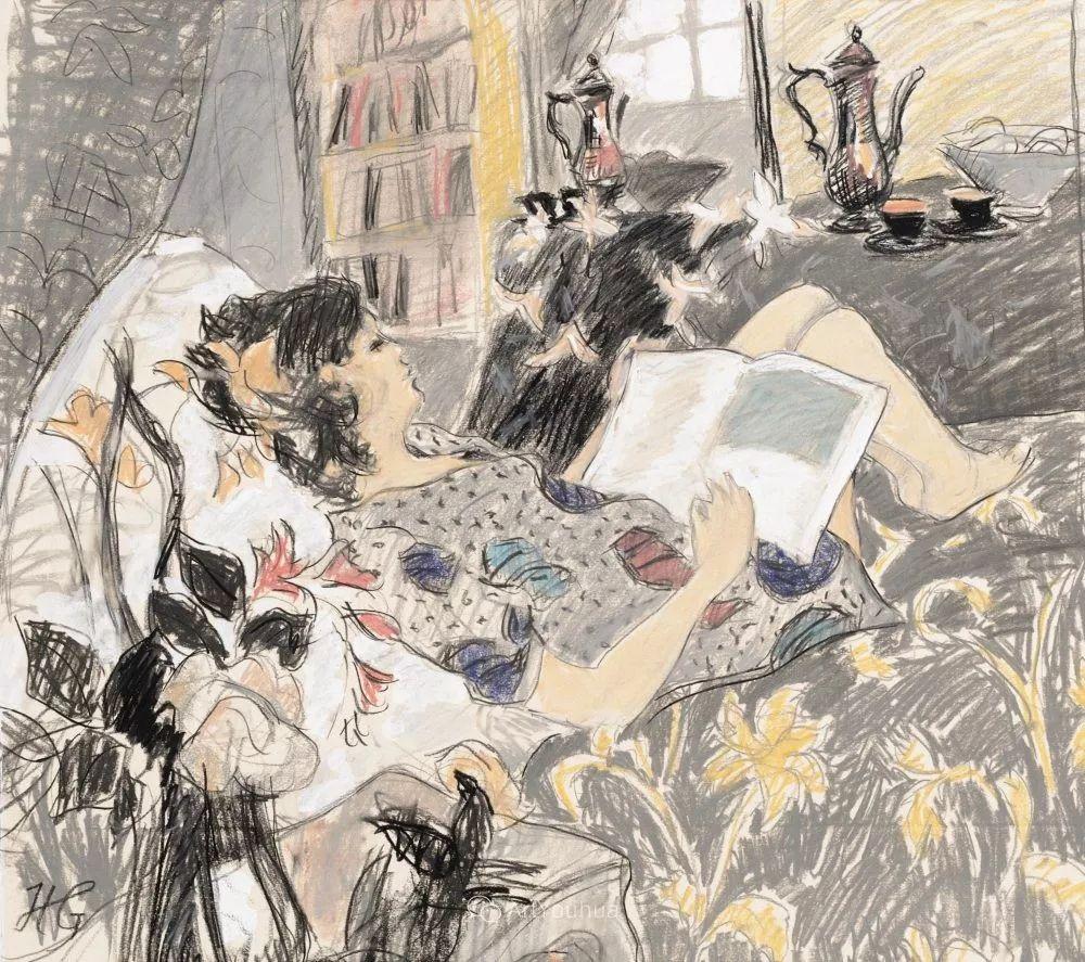 色彩和阳光的交响曲,英国著名浪漫主义画家:雨果·格伦维尔 150幅插图47