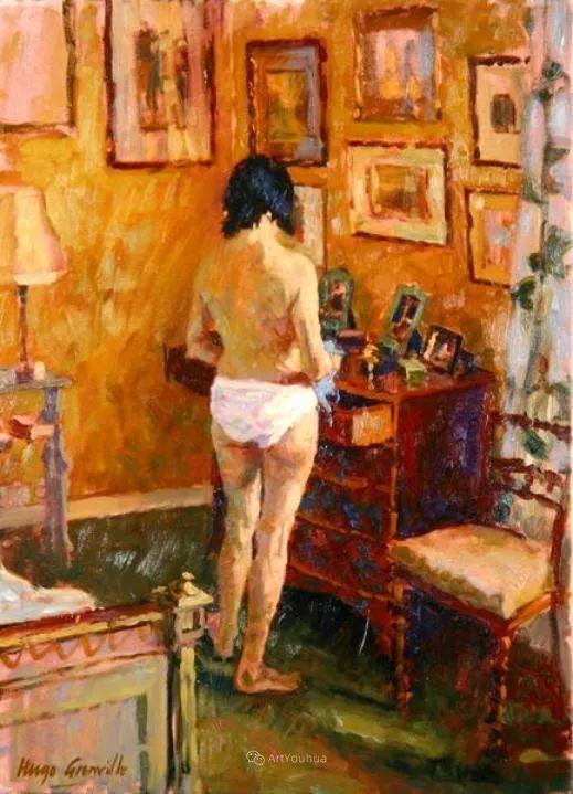 色彩和阳光的交响曲,英国著名浪漫主义画家:雨果·格伦维尔 150幅插图51