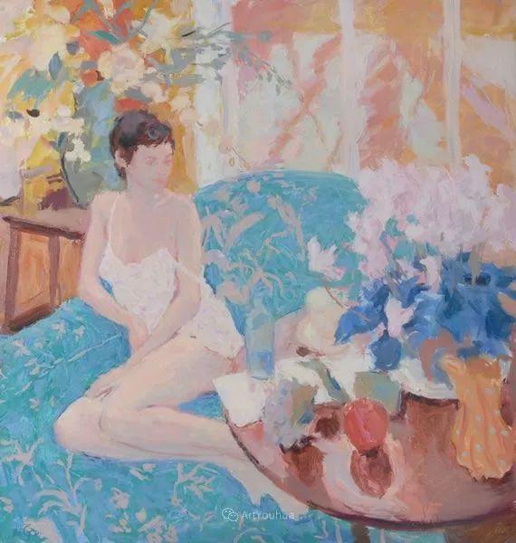色彩和阳光的交响曲,英国著名浪漫主义画家:雨果·格伦维尔 150幅插图52