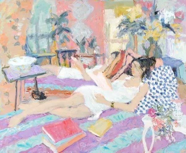色彩和阳光的交响曲,英国著名浪漫主义画家:雨果·格伦维尔 150幅插图53