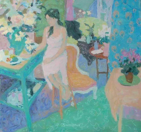 色彩和阳光的交响曲,英国著名浪漫主义画家:雨果·格伦维尔 150幅插图54