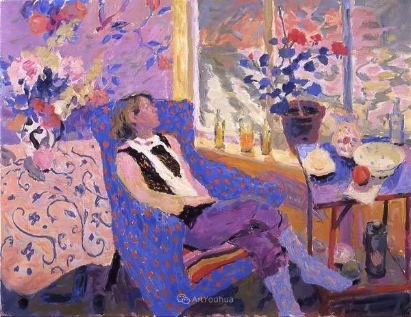 色彩和阳光的交响曲,英国著名浪漫主义画家:雨果·格伦维尔 150幅插图55
