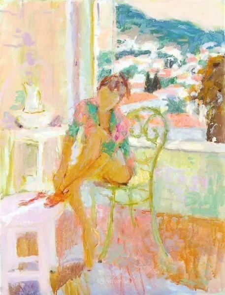 色彩和阳光的交响曲,英国著名浪漫主义画家:雨果·格伦维尔 150幅插图56