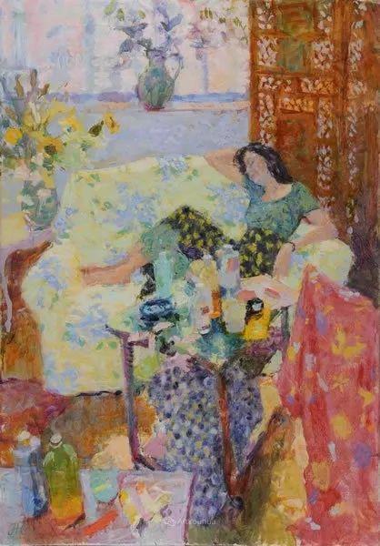 色彩和阳光的交响曲,英国著名浪漫主义画家:雨果·格伦维尔 150幅插图58