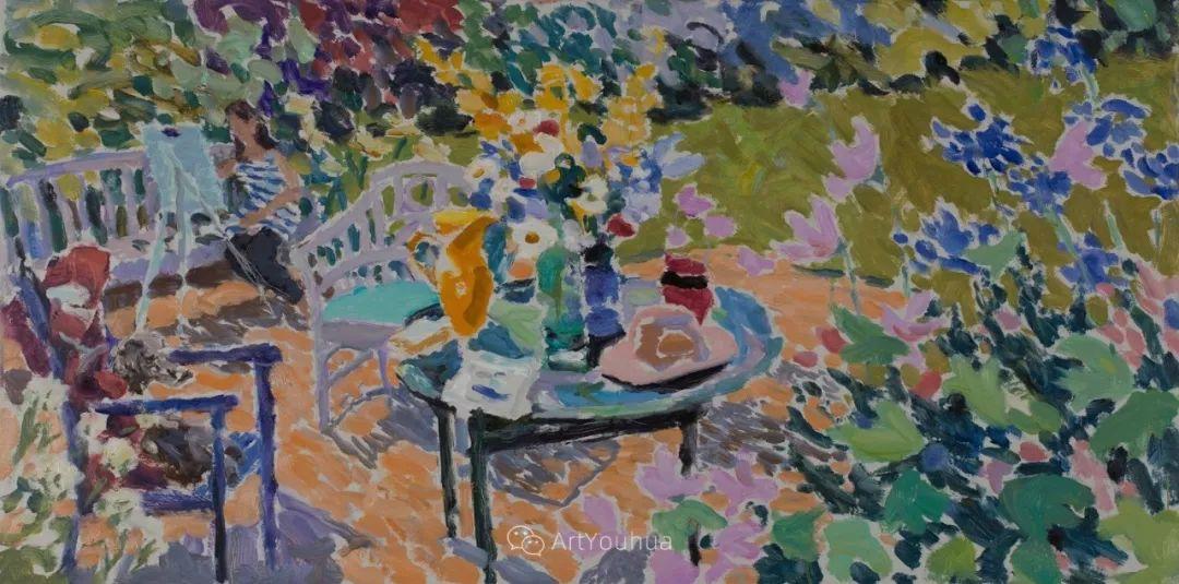 色彩和阳光的交响曲,英国著名浪漫主义画家:雨果·格伦维尔 150幅插图60