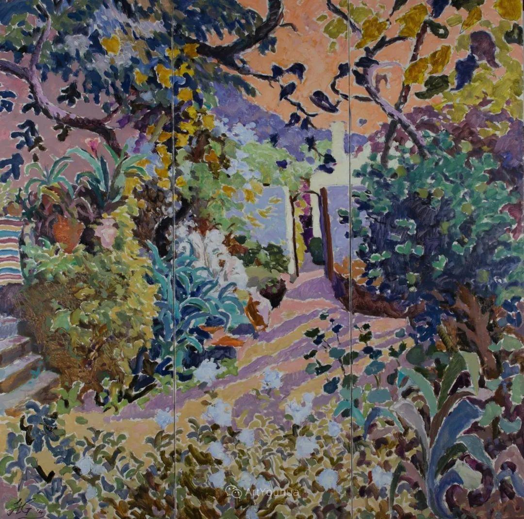 色彩和阳光的交响曲,英国著名浪漫主义画家:雨果·格伦维尔 150幅插图61