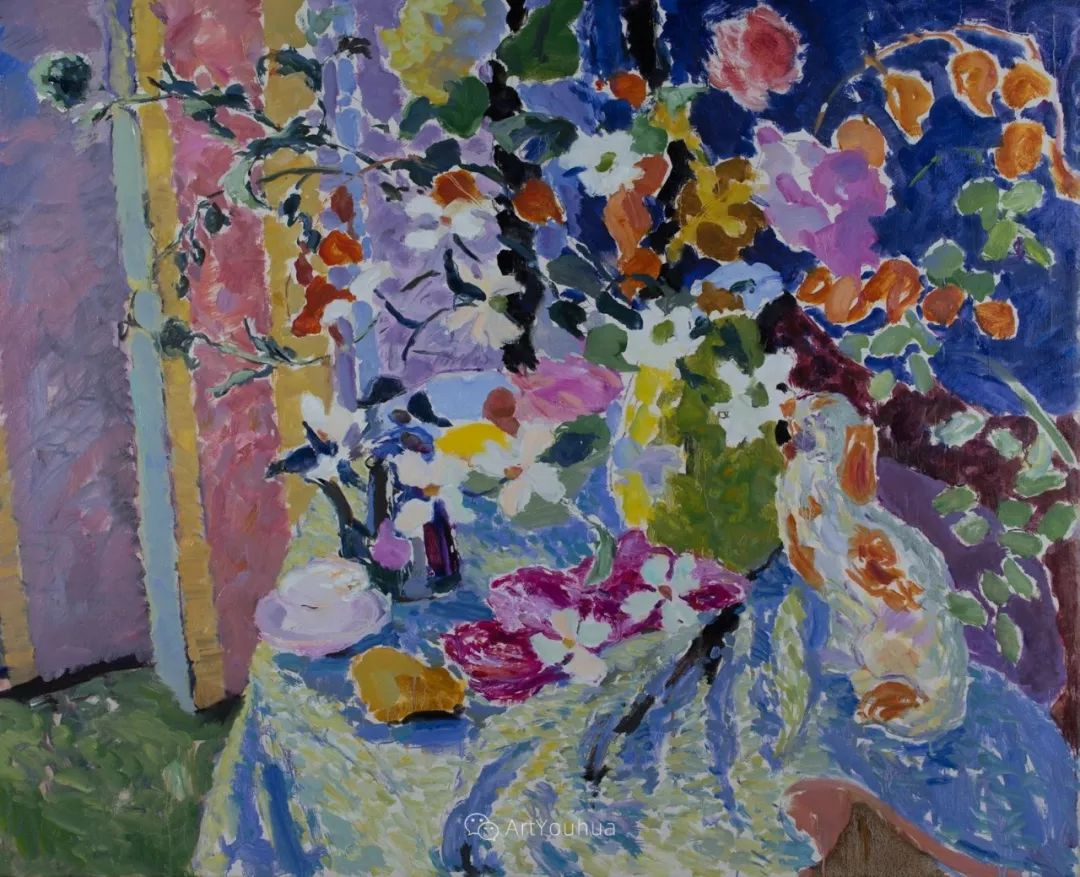 色彩和阳光的交响曲,英国著名浪漫主义画家:雨果·格伦维尔 150幅插图64