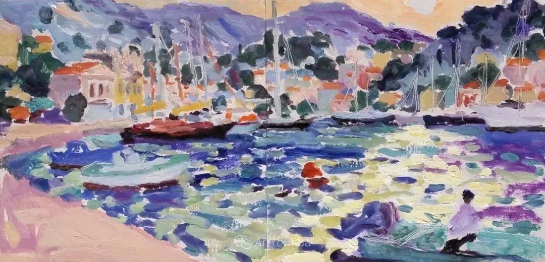 色彩和阳光的交响曲,英国著名浪漫主义画家:雨果·格伦维尔 150幅插图72