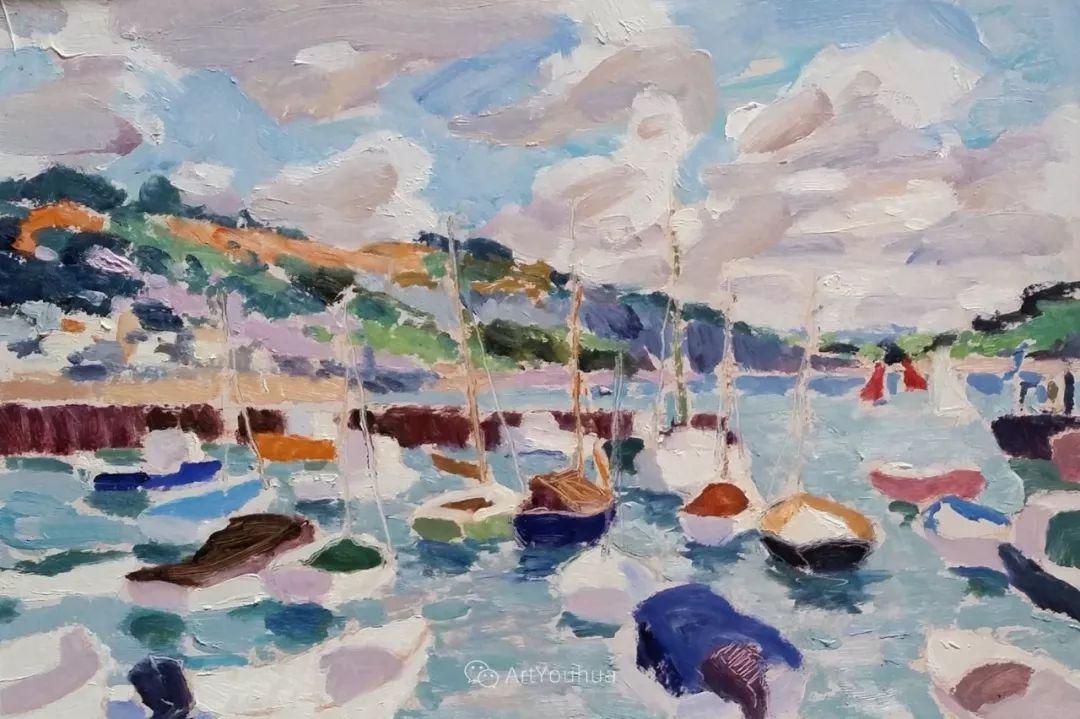 色彩和阳光的交响曲,英国著名浪漫主义画家:雨果·格伦维尔 150幅插图74