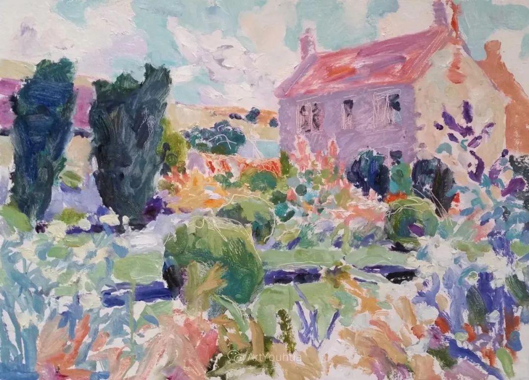 色彩和阳光的交响曲,英国著名浪漫主义画家:雨果·格伦维尔 150幅插图76