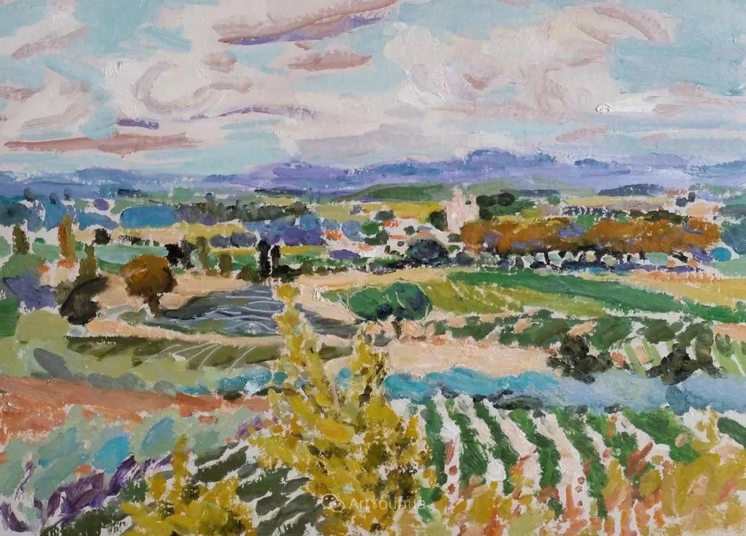 色彩和阳光的交响曲,英国著名浪漫主义画家:雨果·格伦维尔 150幅插图77